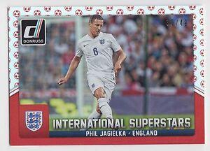 PHIL JAGIELKA 2015 Donruss Soccer International Superstars Red Soccer Ball #/49