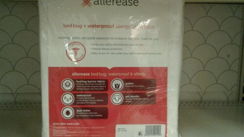 NEW AllerEase Size XL-Twin Zippered Mattress /& Pillow Protector Bed Bug Kit