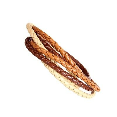 Urban Chic Cosmopolitan Style Blond Cuff Leather Bracelet for Women or Men 8""