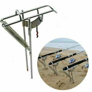 US Fishing Rod Holder Automatic Tip-Up Hook Setter Fish Pole Tackle Bracket Hot