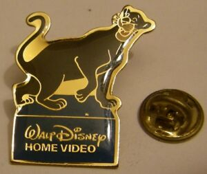 THE-JUNGLE-BOOK-BAGHEERA-the-PANTHER-vintage-pin-badge-Disney-Home-Video