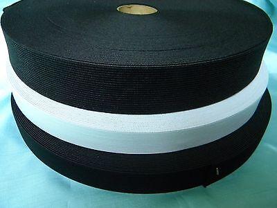 """Knitted Elastic 1"""" inch  Black / White ( New ) for Waistband / Skirt..."""