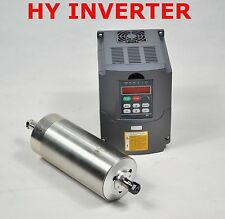 TOP CNC 80MM HY 1.5KW ER11 WATER-COOLED SPINDLE MOTOR & DRIVE INVERTER VFD