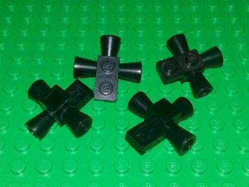 Lego Classic Space Black 2x2 Exhaust Brick Spaceships Planes 4 pieces