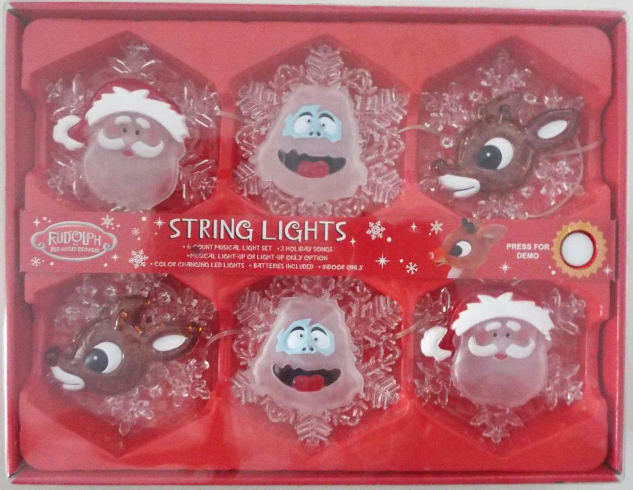NEW RUDOLPH rot-NOSED REINDEER MUSICAL CHRISTMAS STRING LIGHTS 3 Songs