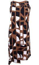 Alfani Womens Brown Printed Pleated Sleeveless Casual Dress 2 BHFO 6576