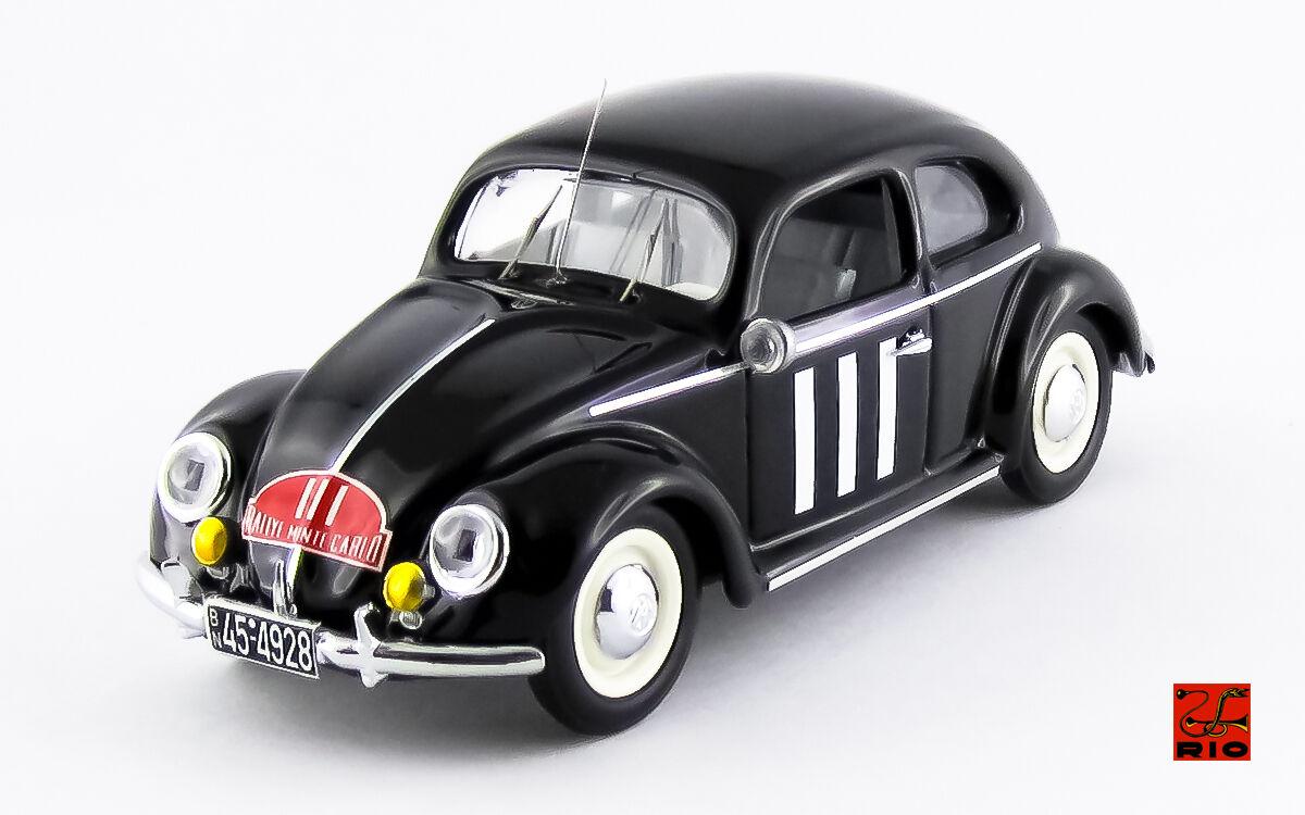 Volkswagen vw Maggiolino  111 121th Monte Carlo 1951 baron H. de Hanstein 1 43
