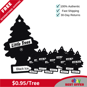 100 Little Trees Hanging Tree Car Air Freshener Black Ice Scent - $0.95/tree