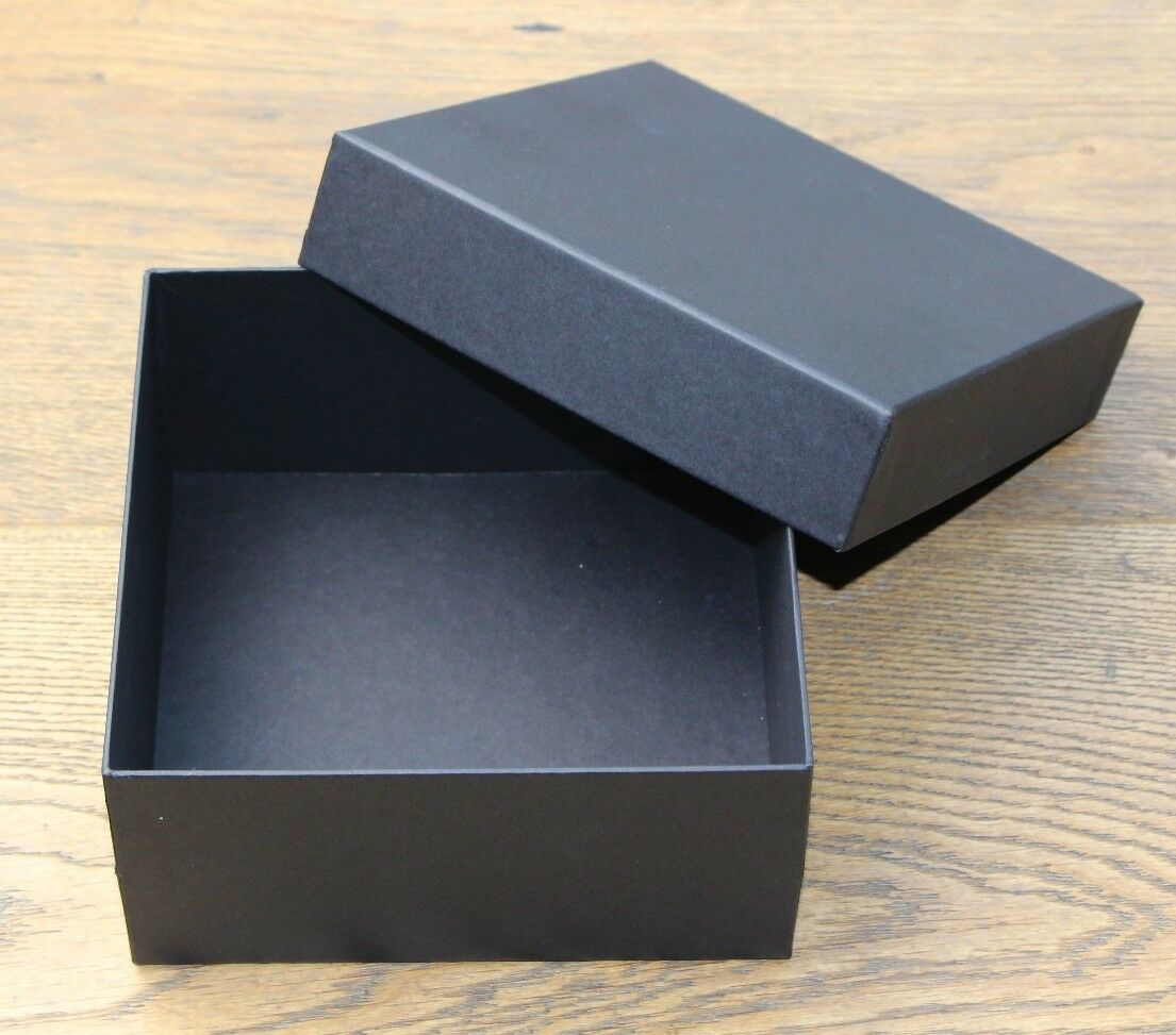 Gift boxes schwarz for craft and other retail items; 15cm x 7.5cm - batch of 30.