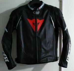 BLACK-MOTOGP-MOTORCYCLE-MOTORBIKE-COWHIDE-LEATHER-BIKERS-RACING-JACKET