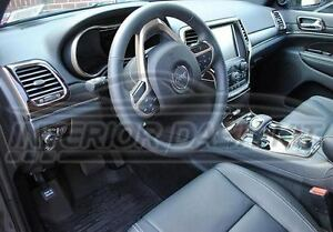 jeep grand cherokee interior burl wood dash trim kit set 2014 2015 2016 2017 ebay. Black Bedroom Furniture Sets. Home Design Ideas