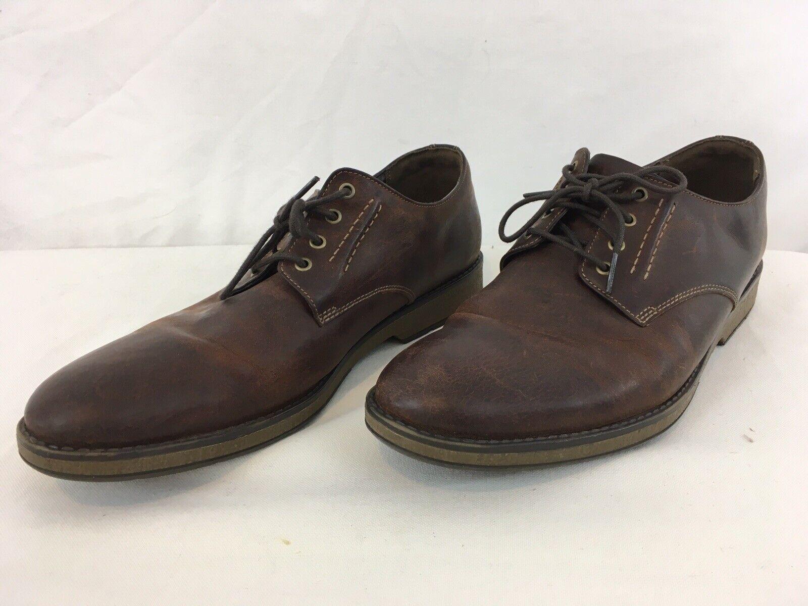 Clarks Hinhomme Plain Acajou Homme 12 en Cuir Marron Décontractées Chaussures Oxford