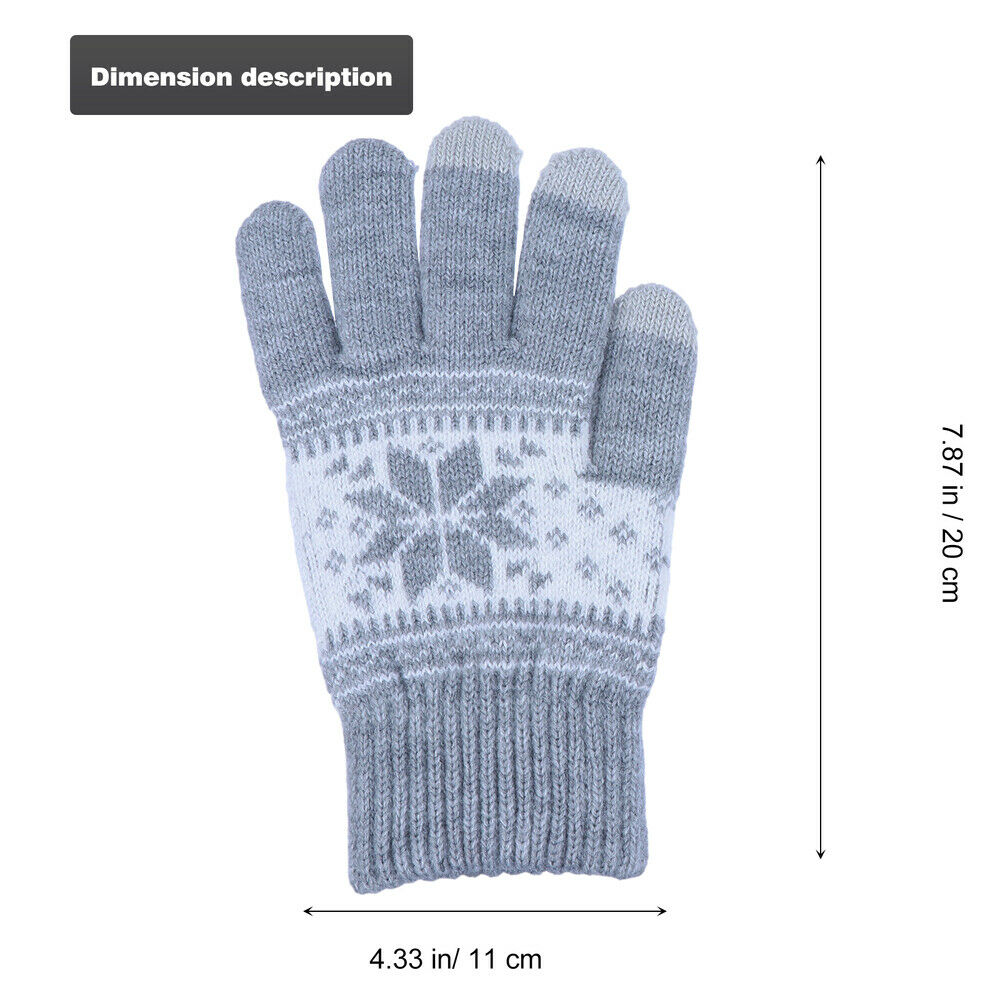 1 Pair Grey Safe Knitted Warm for Kids Teen Men