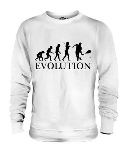 SQUASH PLAYER EVOLUTION OF MAN UNISEX SWEATER MENS WOMENS LADIES GIFT CLOTHING