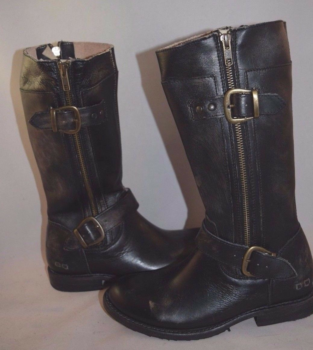 New Bed Stu 'Gogo' Boot Black washer Leather Women's    Size 6.5M   295 945d8e