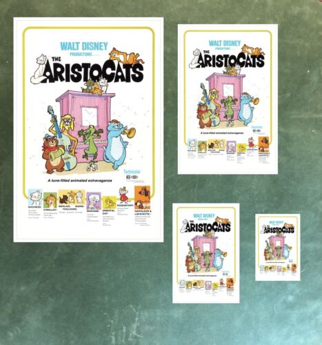 B2G1 FREE!! COLLECTOR POSTER 4 DIFFERENT SIZES DISNEY/'S THE ARISTOCATS