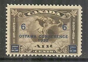 Canada-C4-1932-Air-Mail-Overprint-Mercury-amp-Globe-Unused-Hinged