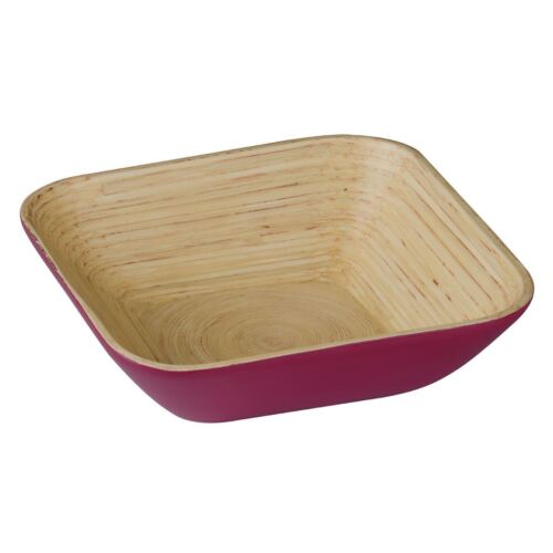 Raspberry Kyoto Salad Bowl Spun Bamboo