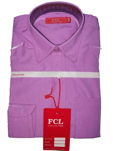 New Boys Kids Lilac Formal Smart For Weddings Party Casual Long Sleeved Shirt