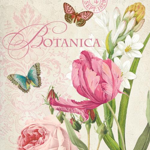 "20 Servietten /""Botanica/"" Paula Scaletta Tulpen*Nostalgie*Vintage*Cottage 33x33"