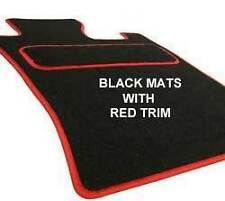 SEAT LEON 2005-2008 4 CLIPS fITTED CUSTOM MADE Tailored Car Floor Mats BLACK Red