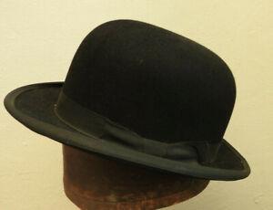 Derby Hat Traditional Black Bowler Men Felt Style Gentleman Costume Bob Simple