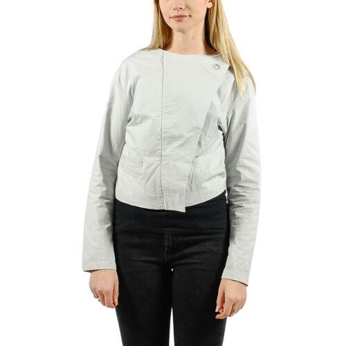 $160 Women/'s PUMA x HUSSEIN CHALAYAN Sail Cropped Jacket Gray size M T61