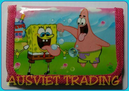 Brandnew Spongebob Squarepants Wallet boys coin Purse tri-fold new release