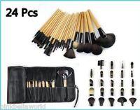 24 Piece Professional Makeup Brushes Set. Usa Seller