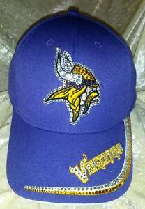 b0f0ce39e6401 Image is loading Minnesota-Vikings-NFL-Women-039-s-Rhinestone-Bling-