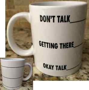 Ceramic-Coffee-Tea-Mug-Cup-11oz-White-Don-039-t-Talk-To-Me-Yet-Funny-Great-Gift-New