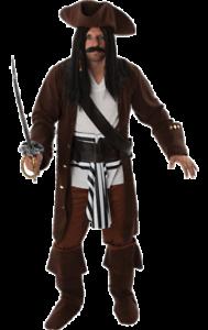 Jack Sparrow Pirates des Caraïbes Livres /& film Fancy Dress Costume