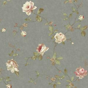 Wallpaper-Designer-Vintage-Luxe-Floral-Trail-Wallpaper-Pewter-Pink-Cream-Beige