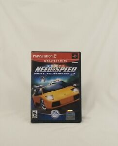Need for Speed: Hot Pursuit 2 (Sony PlayStation 2, 2002) W/ Manual & Tested