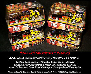 All 4 Custom Display Cases: KISS 'Race to the Stage' AW JL AFX Compatible