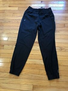 Para Hombres Pantalones De Flexion De Eddie Bauer Luz Stretch Negro Que Ejecutan Viento Athletic M Ebay