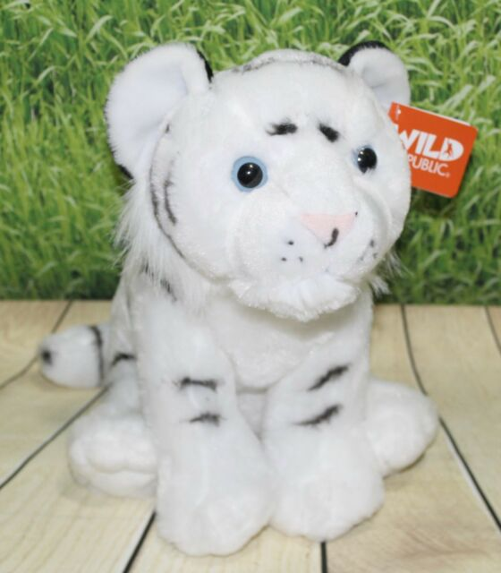 Wild Republic 30cm White Tiger Cub Soft Toy Cuddlekins 12 Plush