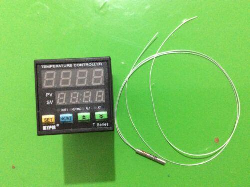 Mypin Dual Digital F/C PID Thermostat Temperature ControllerTA4-SNR+PT100 Sensor
