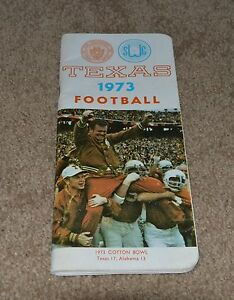 Image Is Loading Vintage 1973 Texas Longhorns Football Press Media Guide