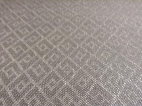 Vintage Francés tejido pesado diamante Lino Ratón Gris Cortina//Tela de tapicería