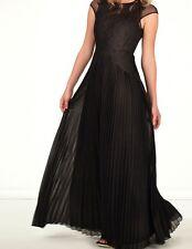 Ted Baker Lumina Black Feather Applique Maxi Dress Size 2 UK 10 New