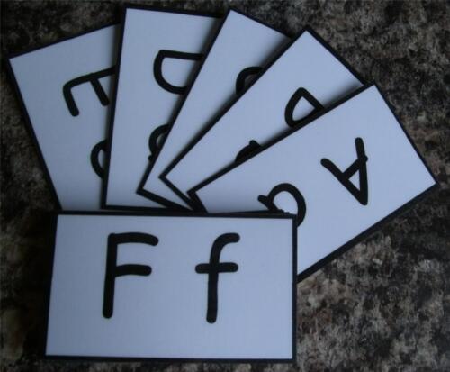 Alphabet Flash Cartes EYFS disponible en 4 designs idéal Format de poche cartes