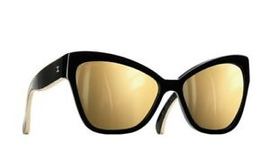 f7030ac9473e5 Image is loading CHANEL-MIRROR-GOLD-CAT-EYE-SUNGLASSES-CC-LOGO-