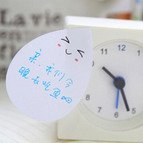 1 Sheet Water Drop Face Smily Memo Pad Office Supplies Stationery Sticky Note SP