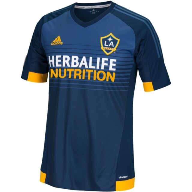 delincuencia referencia Explícitamente  adidas LA Galaxy MLS 2014 / 2015 Soccer Away Jersey Navy Blue / Yellow /  White for sale online