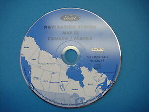 Image Is Loading 4v Ford Navigation Cd Map 12 Ak Canada