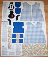 Childs Artist Smock, Tote And Pin Cushion Or Toy Fabric Panel