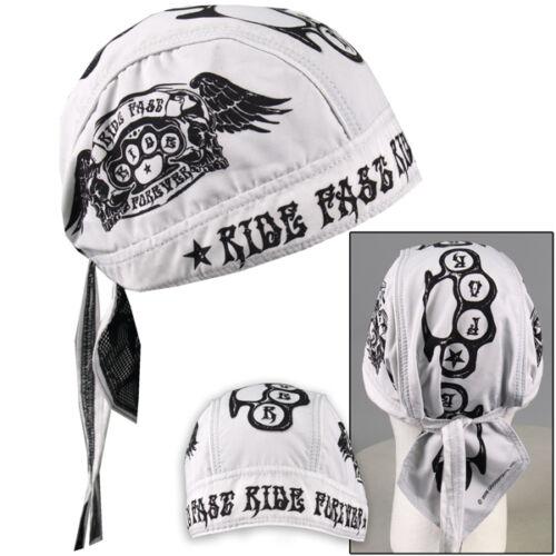 Biker Chopper pañuelo bandana Headwrap Ride casi Forever golpe anillo Wings nuevo