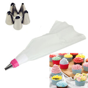 Caraselle Cake Decorating Set With 5 Nozzles And Piping Bag : 5 Nozzles + One Icing Piping Bag Cake Decorating Pastry ...