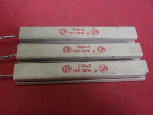 alta carico resistenza 18 Ohm 17w radiale cemento 10x9x75mm 3x 25716 RARO
